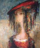 Damenbildnis mit rotem Hut (N.N.)