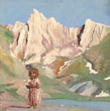 Alpenszene mit Kind (N.N.)