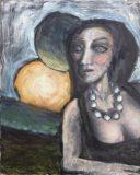 Damenbildnis mit Sonne und Mond (N.N.)