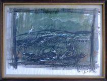 Jäger mit Hirsch im Gras (N.N.)