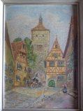 Straßenszene mit Torturm (W. Dubs)