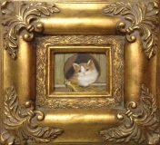 Katze hinter Zaun (N.N.)