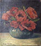 Stillleben mit Mohnblumenstrauß (Mieze Bender, 1920)