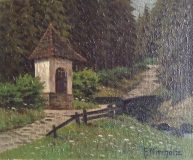Bergweg mit Kapelle (Friedrich Nierholz)
