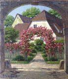 Häuser mit blütenumranktem Torbogen (Friedrich Nierholz)