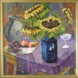 Stillleben mit Obst und Sonnenblumen (N.N.)