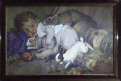 Kind mit Hasen (G. Unterländer, 1928)