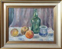 Stillleben mit Obst, Flasche und Becher (N.N.)