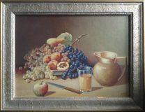 Stillleben mit Obst, Krug und Glas (A. Spatz)