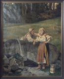 Genreszene am Brunnen (Ernö Vörös Béli)
