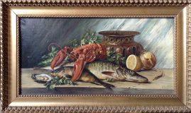 Stillleben mit Fischen und Hummer (C.W.)