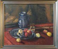 Stillleben mit Äpfeln und Mostkrug (N.N.)