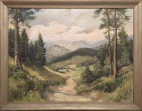 Waldlandschaft (Otto Stawi, 1954)