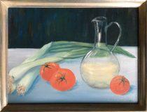 Stillleben mit Tomaten und Lauch (Renate Lehmann)