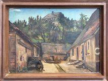 Bauernhäuser vor Gutshaus (N.N.)