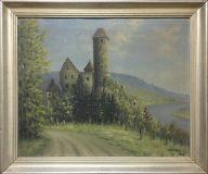 Ansicht der Burg Hornberg (Albert Fisel, 1947)