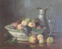 Stillleben mit Trauben, Pfirsichen und Zitrone (Anton Raufer-Redtwitz)
