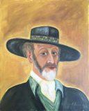 Selbstbildnis mit Hut (Albert Umgelter, 1977)