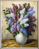 Fliederstrauß in Vase (Max Kosmas Zahner)