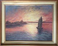 Segelboot im Abendrot (Herbert Fisel)