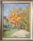 Herbstlaub bei Nymphenburg (Gottfried Niemann, 1911)