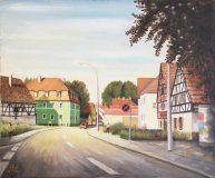 Straßenszene in Altrip (Heinz Schneider, 1982)