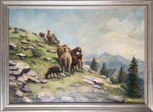Schafe in Gerbirgslandschaft (Max Kosmas Zahner)