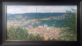 Blick auf Stuttgart-Heslach (Günther Lemme, 1995)