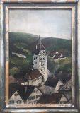 Fünfeckiger Turm in Neckarbischofsheim (Loh, 1955)
