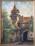 Straßenszene mit Tor und Turm (Rudi Scheffler, 1946)