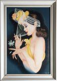 Frau mit Hut, Schleier und Blume (Ulrich Schichhold, 1983)